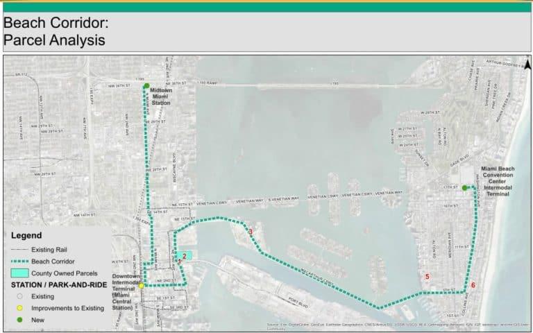 metrorail miami metromover map