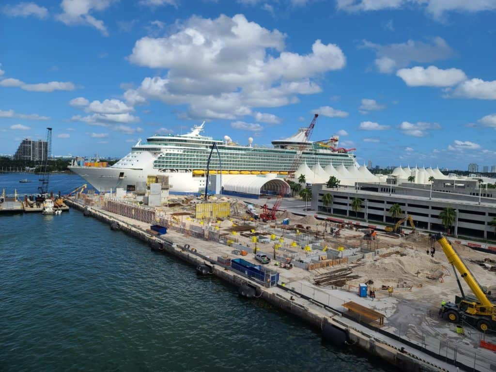 $150M Virgin Cruise Terminal Designed To Appear Like A Palm Grove Is Now Rising At PortMiami